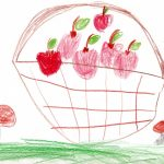 Korb mit Äpfeln - Nora