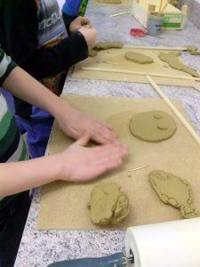 Arbeit mit Naturmaterial